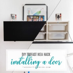 Trofast IKEA Kack: Installing a door to hide the messy drawers