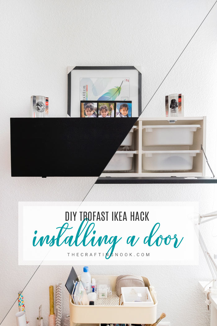 Trofast IKEA Hack: Installing a door to hide the messy drawers