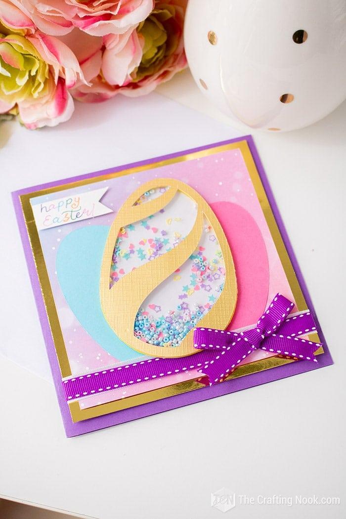 DIY Cute Easter Egg Shaker Card