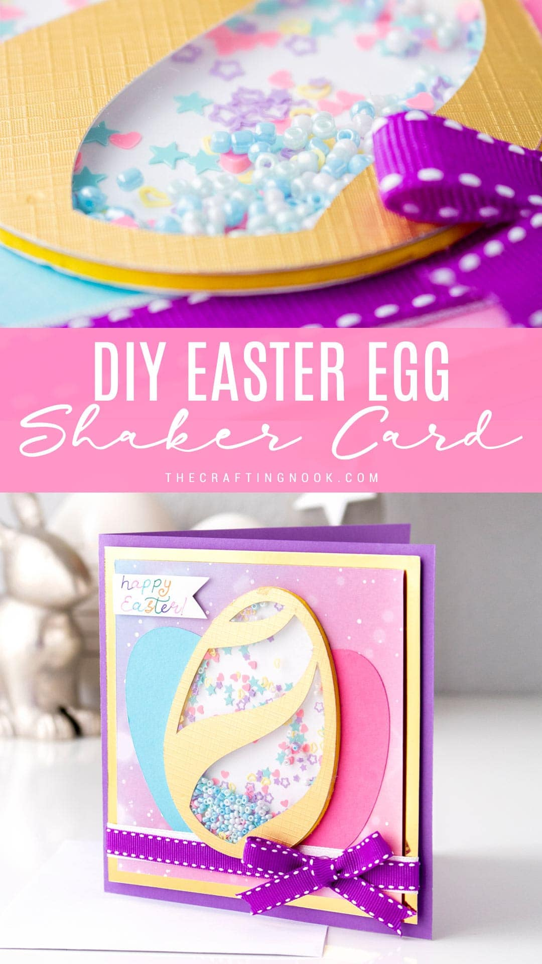 Learn how to make an Easter card with a shaker!