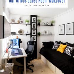 Office-Guest Gamer Room Decor Makeover