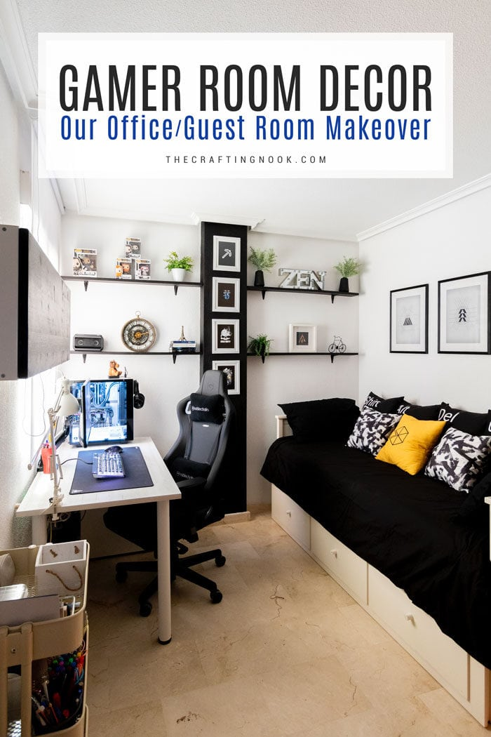 Office-Guest Gamer Room Decor Makeover