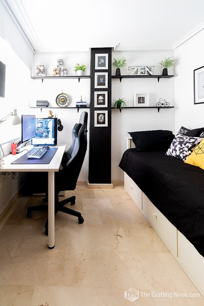 Amazing Office-Guest Gamer Room Decor Makeover
