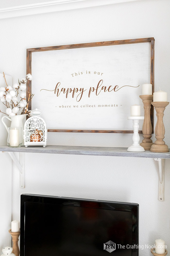 DIY Reversible Rustic Wood Sign using a different sentiment.
