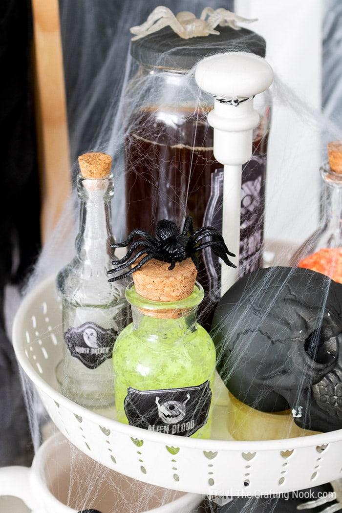 Alien Blood bottle Halloween decor
