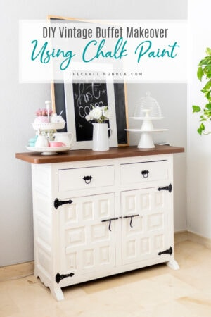 DIY Vintage Buffet Makeover with Rustoleum Chalk Paint