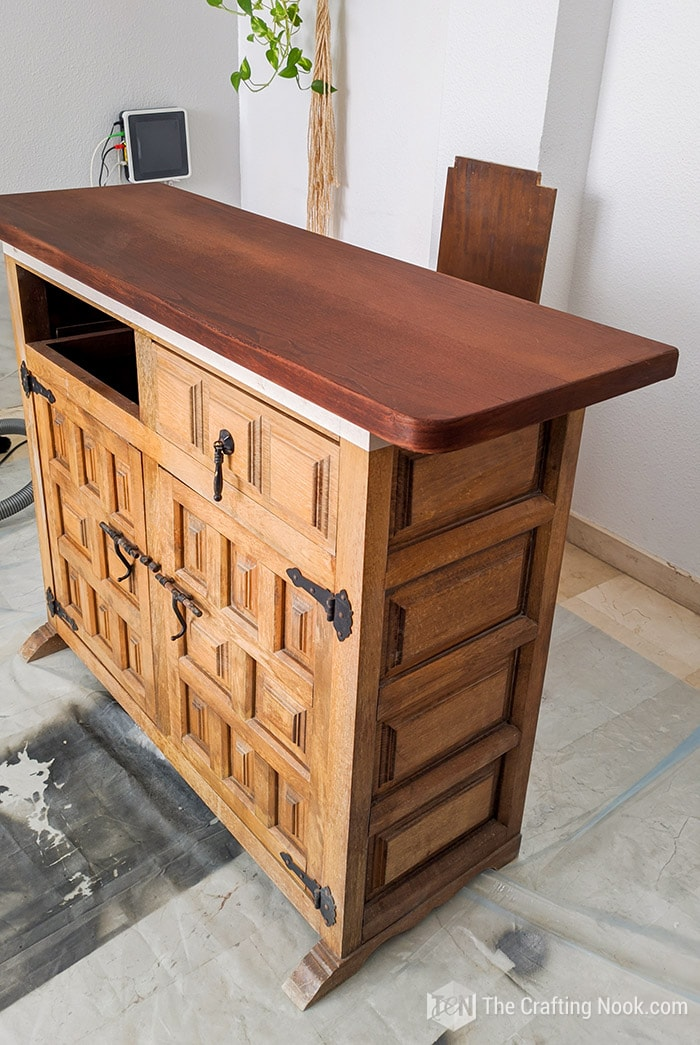 Antique Buffet with top stained