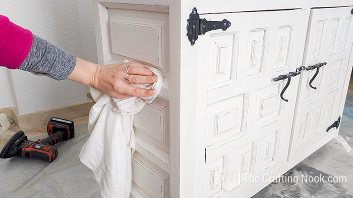 wiped off any excess wax with a soft, clean cloth from the buffet.